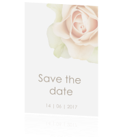 Romantische save the date met roos