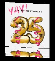 Vrolijke Uitnodiging Verjaardag 25 Jaar