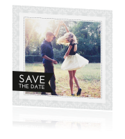 Barok save the date kaart met foto