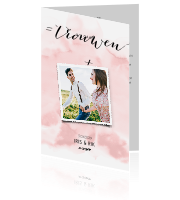 Stijlvol en klassiek design wedding watercolour