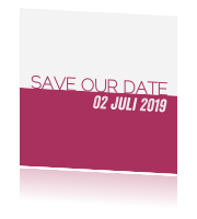 Strakke save the date uitnodiging