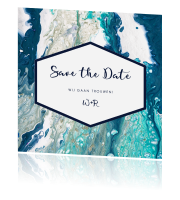 Kunstzinnige stijlvolle save-the-date-kaart