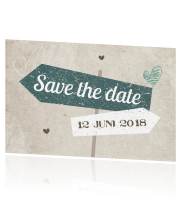 Hippe save the date in ibiza stijl