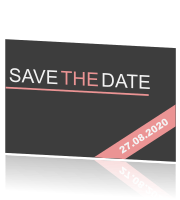 Een save the date kaart in stijlvol design