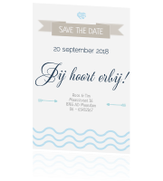 Save the date in thema strand clean