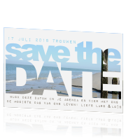 Fotokaart trouwen strand save the date