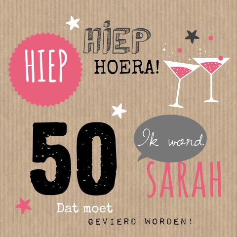 Top Uitnodiging 50 jaar verjaardag | MadeforMoments [hipDesign] #GT72