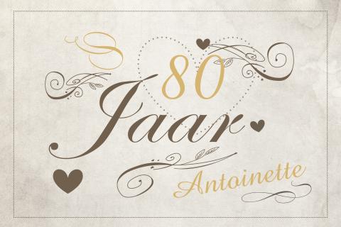 Bekend Uitnodiging 80 jaar verjaardag - MadeforMoments [hipDesign] #BQ15