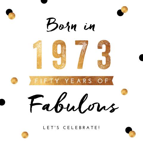Bekend Uitnodiging 50 jaar verjaardag | MadeforMoments [hipDesign] @VN07