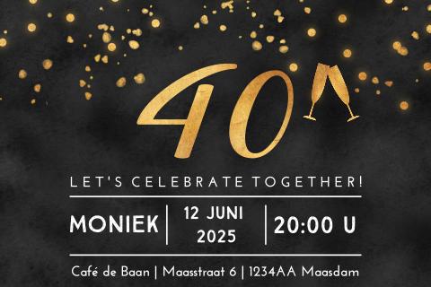 Verjaardag 40 Jaar Uitnodiging