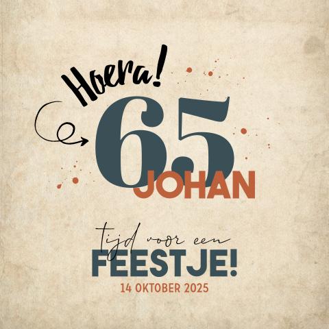 Bekend Uitnodiging 60 en 65 jaar verjaardag - Made for Moments #NN81