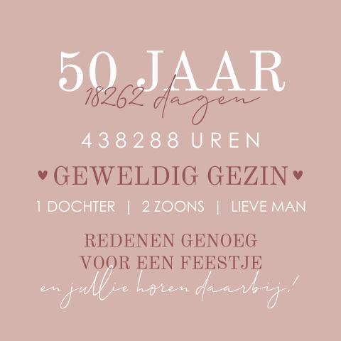 Uitzonderlijk Uitnodiging 50 jaar verjaardag | MadeforMoments [hipDesign] @VF49