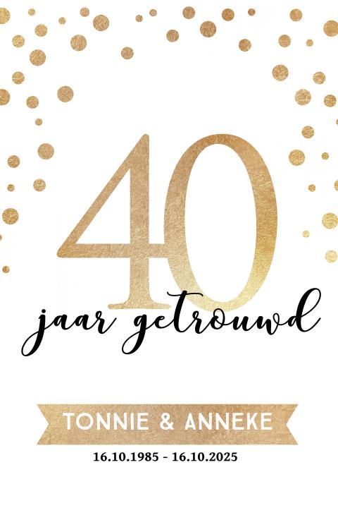 Huwelijksfeest 40 Jaar