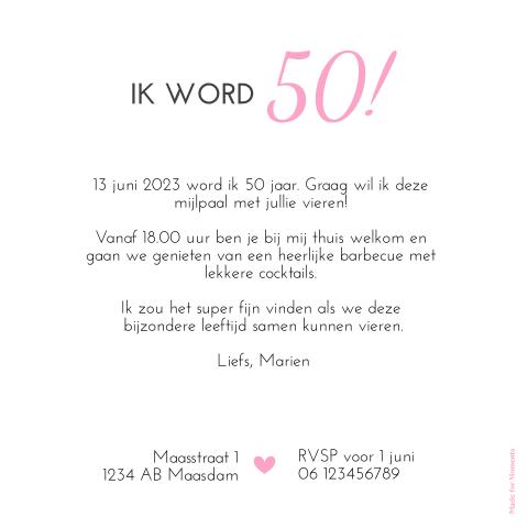 Verbazingwekkend Stijlvol je 50ste verjaardag vieren met een hippe kaart ES-37