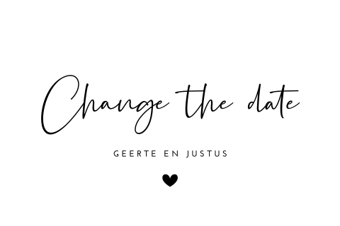 Change the date calligraphy zwart-wit