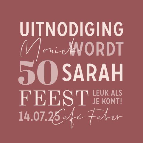 Wonderbaarlijk Uitnodiging 50 jaar - Abraham Sarah HJ-92