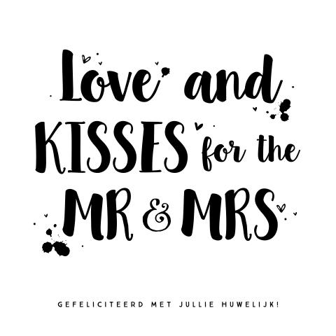 Welp Hutten wenskaart trouwen huwelijk met handlettering OA-04