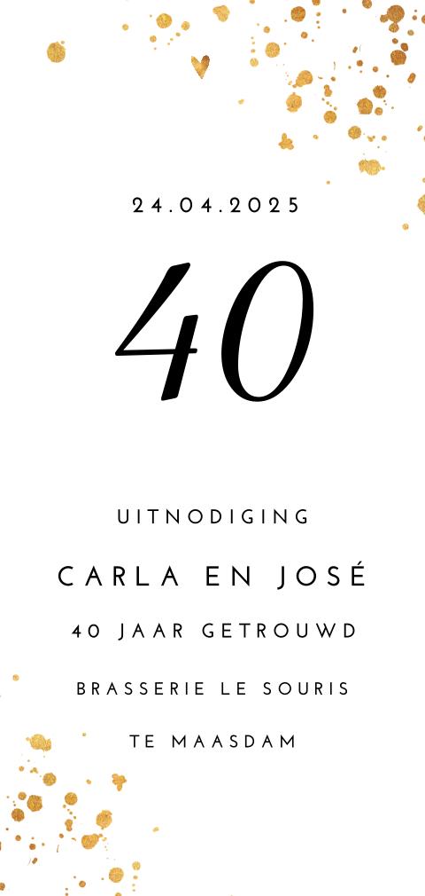 Uitnodiging 40 Jaar Getrouwd Robijnen Huwelijk