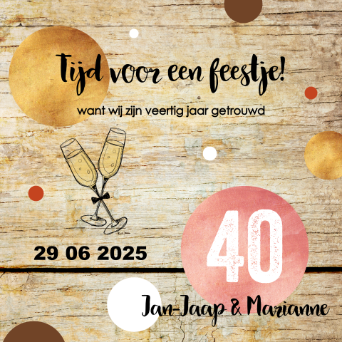 Uitnodiging Maken 40 Jaar Getrouwd