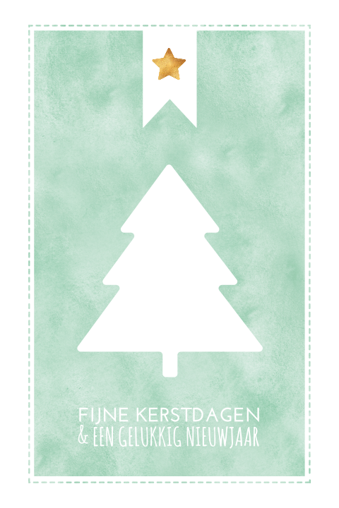 Watercolour kerstkaart