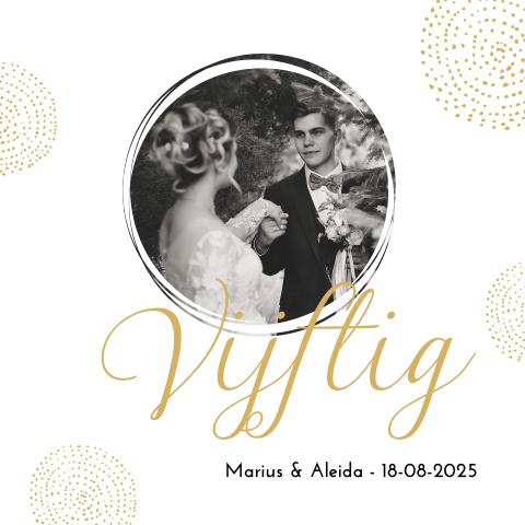 Super Gouden bruiloft uitnodiging met foto TI-39