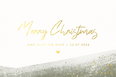 Kerst save the date calligraphy