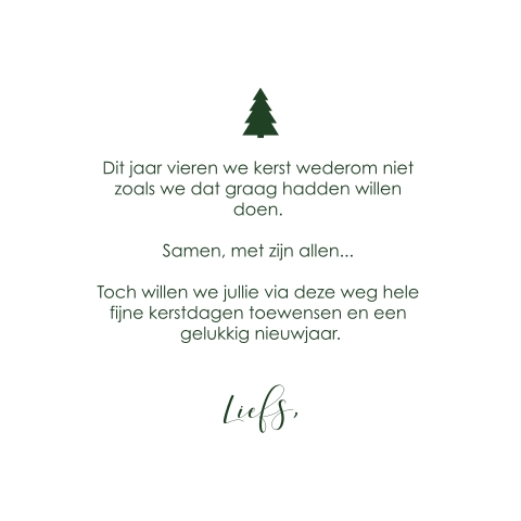 Kerstkaart stay strong stay safe