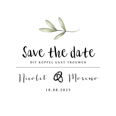 Stijlvol klassiek design save the date