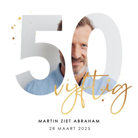 Uitnodiging Maken 50 Jaar Met Foto