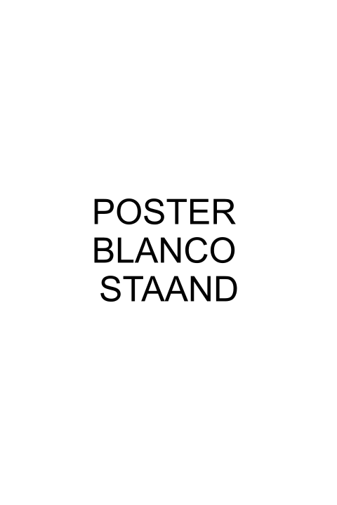 Poster blanco staand