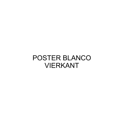 Poster blanco vierkant
