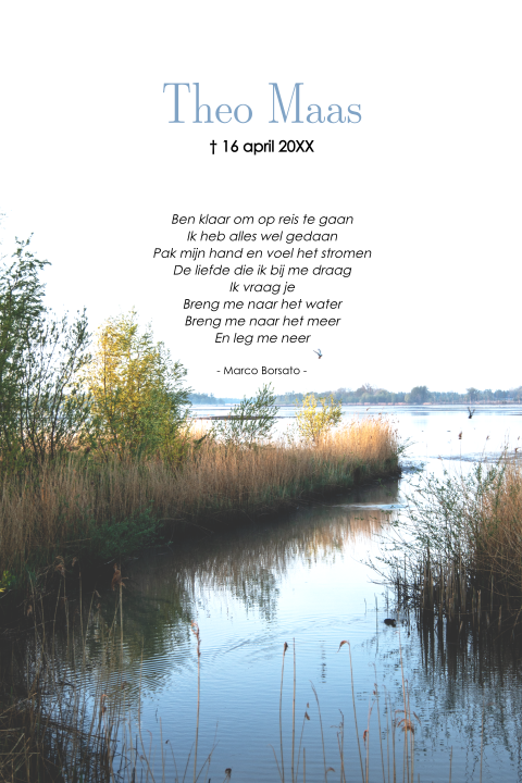 Rouwkaart water landschap
