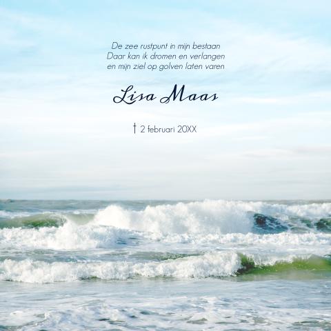 Rouwkaart Zee Overlijden Moeder