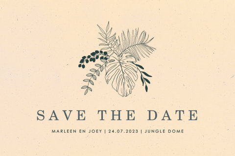 Save the date botanisch duurzaam