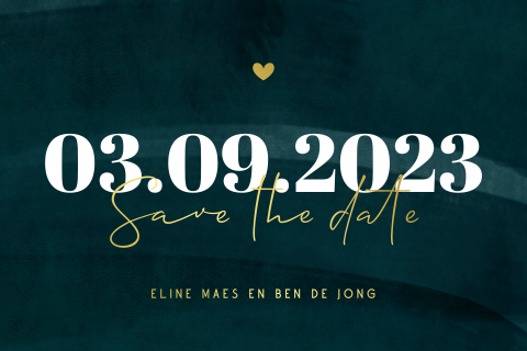 Hippe save the date kaart met datum groot