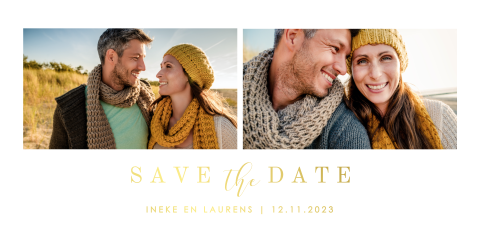 Save the date met foto