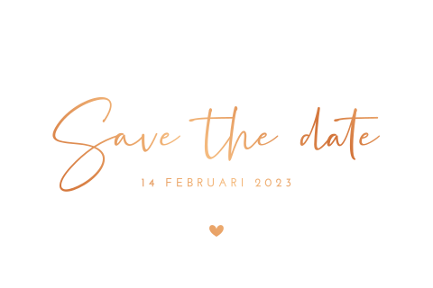 Save the date handlettering met koperfolie
