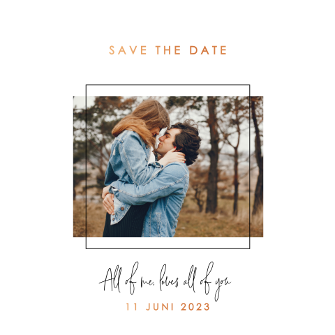 Save the date geometrisch met foto