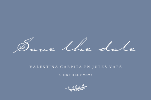Save the date klassiek kalligrafie