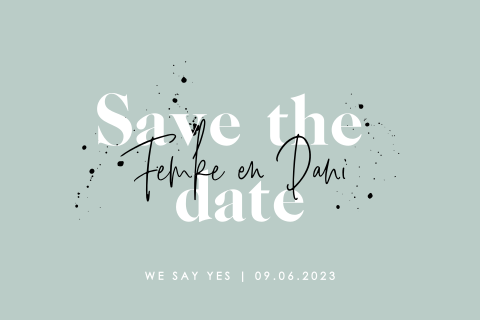 Hippe typografische save the date