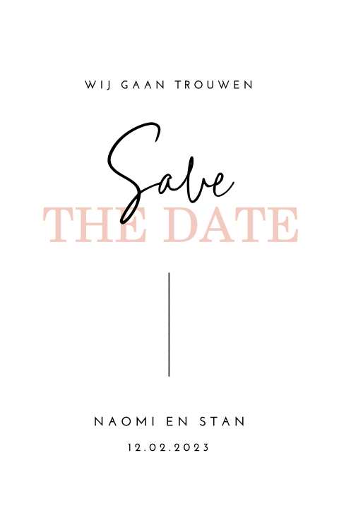Stijlvolle save the date met calligraphy