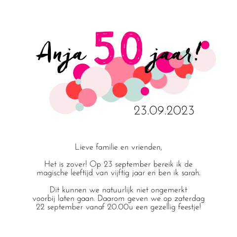 Hip ontwerp uitnodiging 50th birthday party