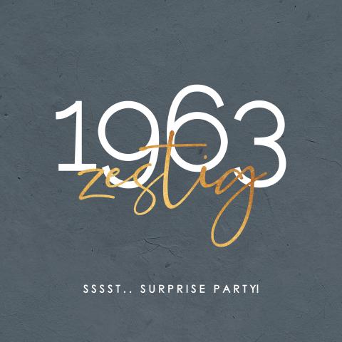Goede Surprise uitnodigingskaart verjaardag 60 jaar SD-78