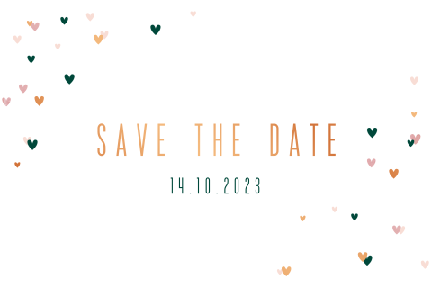 Uitnodiging save the date hartjes
