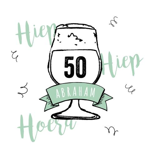 Voorkeur Hip design verjaardag man 50 jaar @FA63
