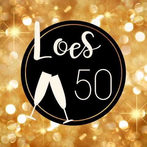 Fabulous Verjaardagsuitnodiging vrouw 50 jaar goud @BG78