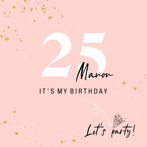 Verwonderlijk Uitnodiging 25 jaar verjaardag | Made for Moments FK-17