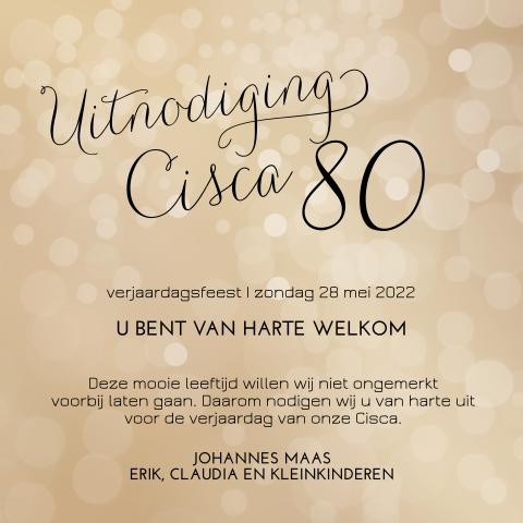 Hedendaags Uitnodiging 80 jaar verjaardag - MadeforMoments YT-07
