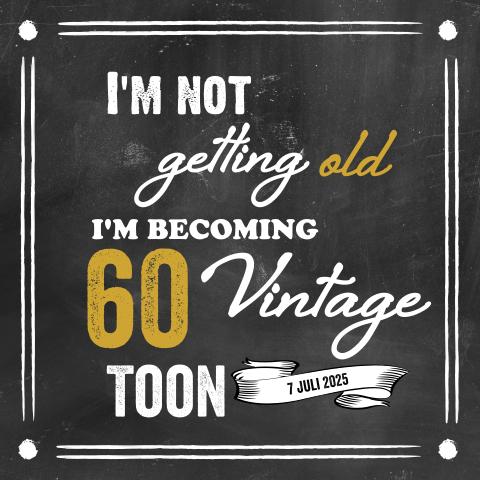 Wonderbaar Uitnodiging 60 jaar verjaardag - Made for Moments ET-94