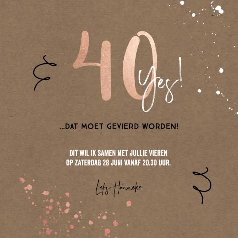 Beste Uitnodiging 40 jaar verjaardag | MadeforMoments VC-99
